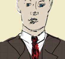 F Scott Fitzgerald Portrait in 60 seconds in yellow Sticker