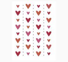 Heart In Line One Piece - Short Sleeve