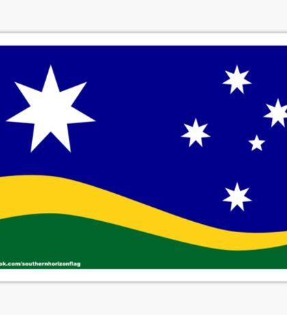 Southern Horizon flag (with URL) Sticker