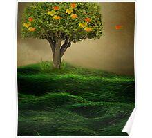 The little Autumn tree  Poster