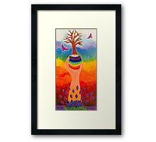 Chakra tree Framed Print