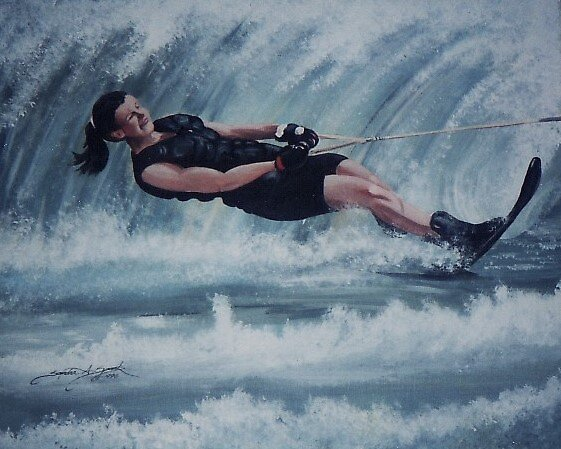 Waterskiing Championship by Sandy Sparks