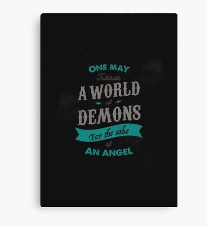 WORLD OF DEMONS Canvas Print