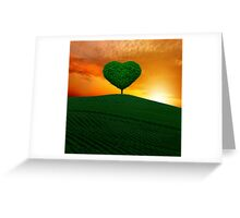 The green heart tree  Greeting Card