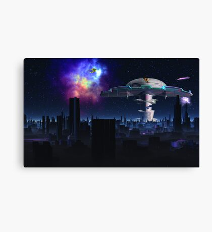 Nightfall Marsport Canvas Print