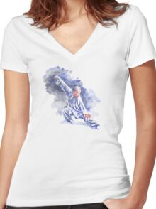 Yang Tai Chi Women's Fitted V-Neck T-Shirt