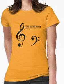 Music Pun Womens Fitted T-Shirt