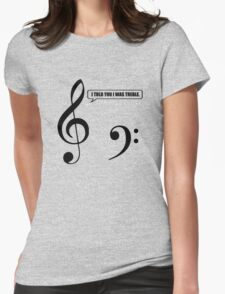 Music Pun Womens Fitted T-Shirt