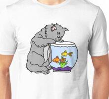 Cat and Fishbowl Unisex T-Shirt