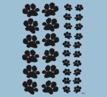 Paw Prints Pattern on Blue Kids Clothes
