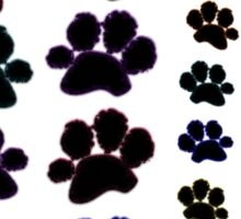 Paw Prints Pattern Sticker