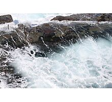 Sea wash at Bogey Hole by Bernadette Smith (c) Photographic Print