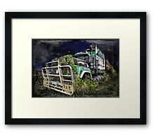 Night of the Road Train Framed Print