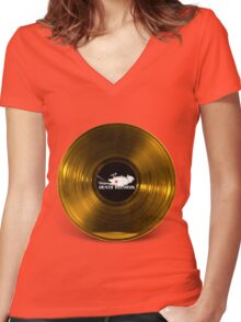 Death Records-Phantom of the Paradise Women's Fitted V-Neck T-Shirt