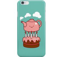 tea with cake iPhone Case/Skin