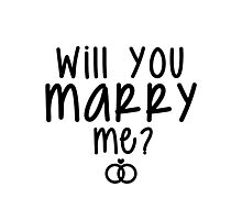 Will You Marry Me? Proposal Ideas Photographic Print