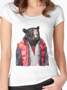 Black Bear Women's Fitted Scoop T-Shirt