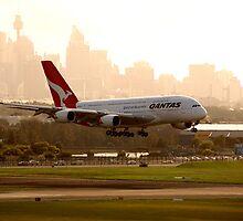 Qantas Airbus A380 by HowieP