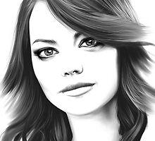 Emma Stone digital painting  by Thubakabra