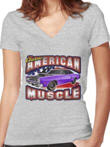American Muscle Car Series - Super Bee Women's Fitted V-Neck T-Shirt