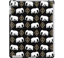 Elephant pattern in gold black and white gender neutral design modern tribal aztec triangles iPad Case/Skin