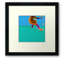 Sliding on the Sea Framed Print