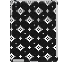 Arizona - tribal black and white native design in geometric blocks iPad Case/Skin