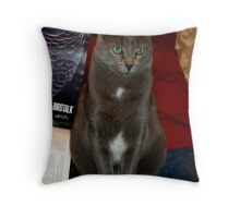 *COLOR & TEXTURE* A POSED PORTRAIT OF WOOLY Throw Pillow