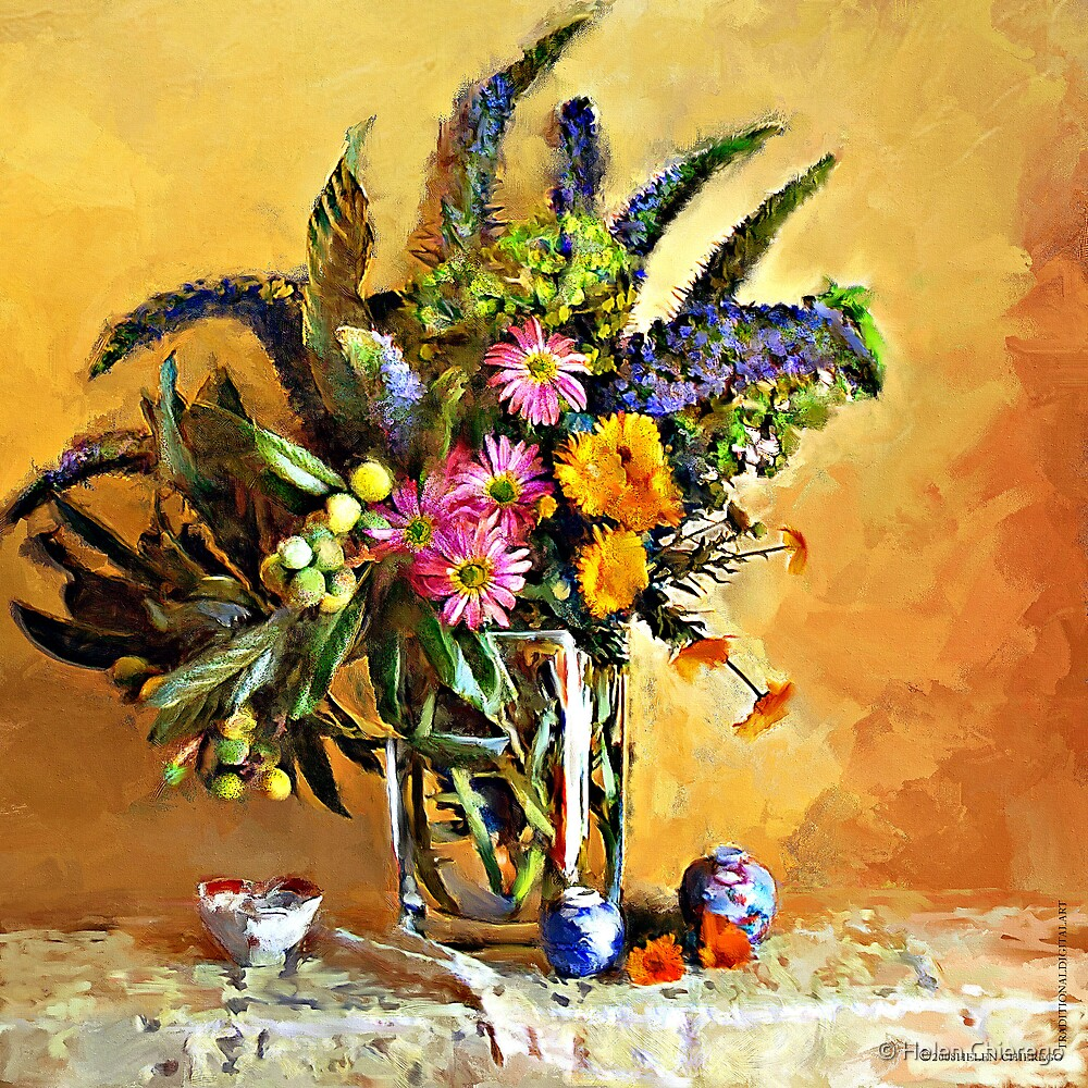 Echiums and Loquats by © Helen Chierego