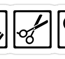 Hairstyler comb scissors hairdryer Sticker
