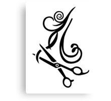 Hair scissors Hairdresser Canvas Print