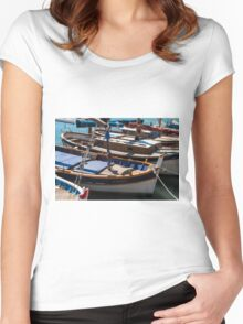 Fishing boats, Cassis, French Riviera Women's Fitted Scoop T-Shirt