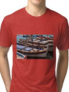 Fishing boats, Cassis, French Riviera Tri-blend T-Shirt