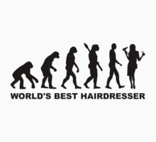 Evolution World's Best Hairdresser Baby Tee
