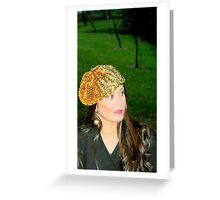 Golden beret Greeting Card
