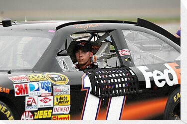 Denny Hamlin by Bill Gamblin