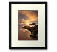 Mount Maunganui Sunrise Tall, day break 5 Framed Print