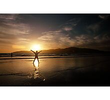 Our Eleanor, Sunset on ANZAC Day, New Zealand 2008 Photographic Print