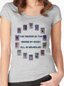 Persona 3 Arcana Quotes Women's Fitted Scoop T-Shirt