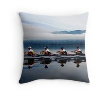 Lake Varese mist Throw Pillow