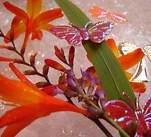 Butterflies and Flowers by merran