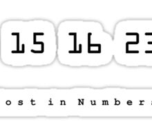 Lost In Numbers... Sticker