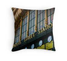 Under The Clocks Throw Pillow
