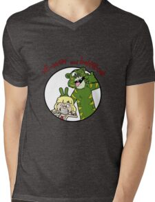 He-man and Battlecat Mens V-Neck T-Shirt