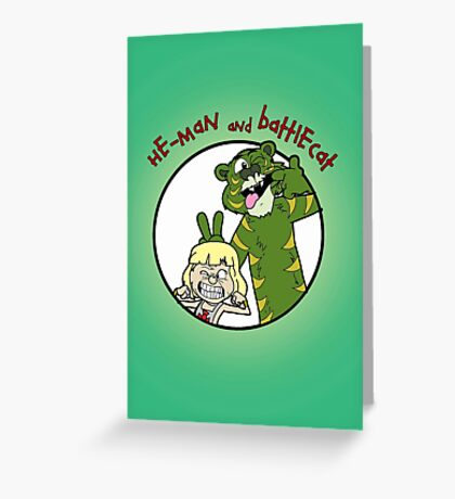 He-man and Battlecat Greeting Card