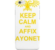 Keep Calm and AFFIX BAYONETS (Yellow) iPhone Case/Skin