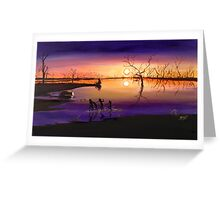 Menindee Sunset Greeting Card
