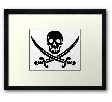 Pirate Logo (Black) Framed Print