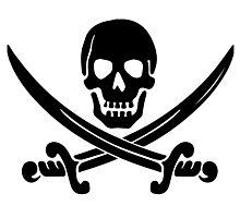 Pirate Logo (Black) Photographic Print