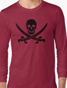 Pirate Logo (Black) Long Sleeve T-Shirt